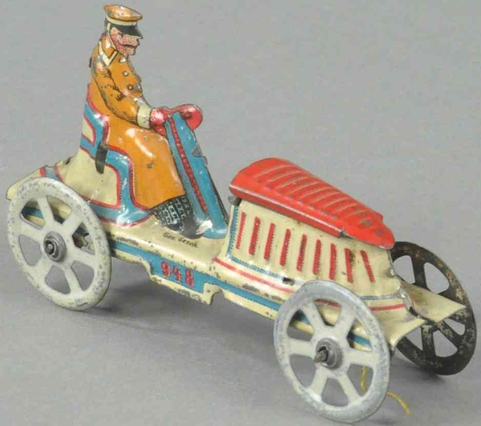 meier 948 penny toy offenes auto fahrer rot weiss blau