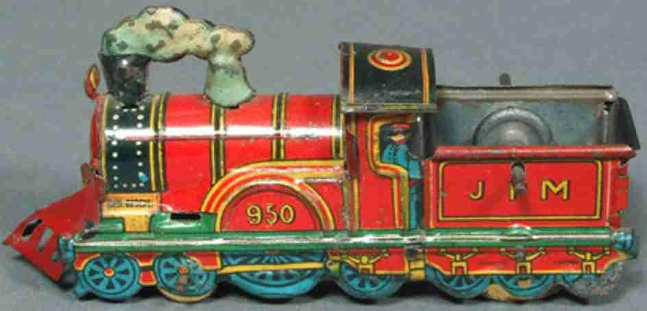 meier 950 penny toy locomotive  with flywheel mechanism
