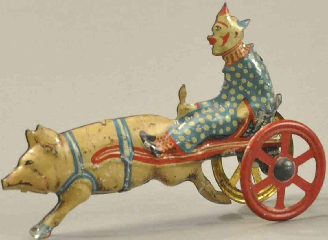 meier penny toy clwon auf karre mit schwein