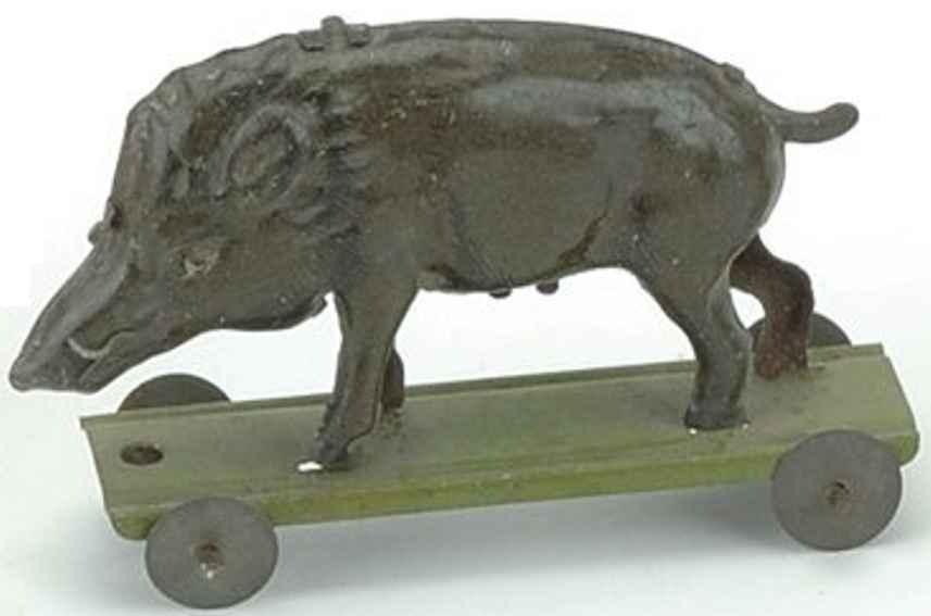 meier penny toy boar on platform