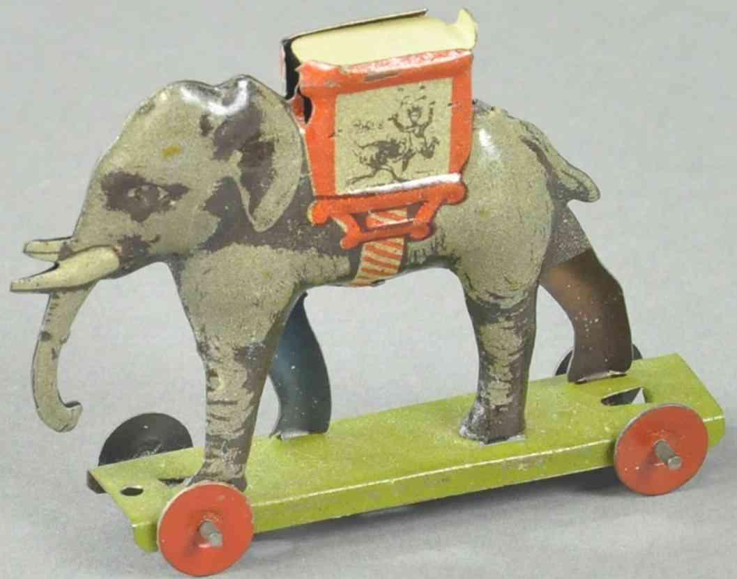 meier penny toy elefant gruene plattform rote scheibenräder