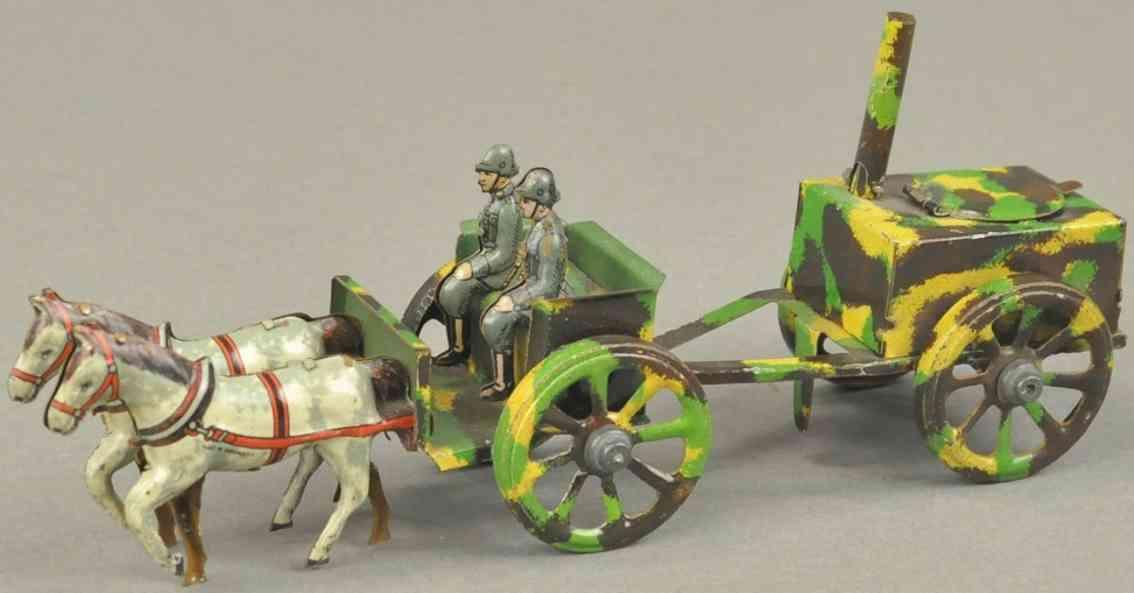 meier penny toy feldkueche und kutsche tarnfarben zwei pferde