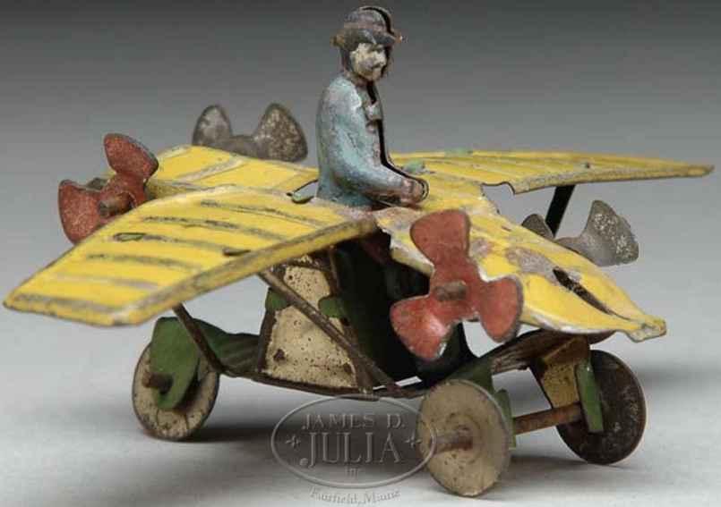 Meier Penny Toy Flugzeug mit Figur und vier seitlichen Propellern