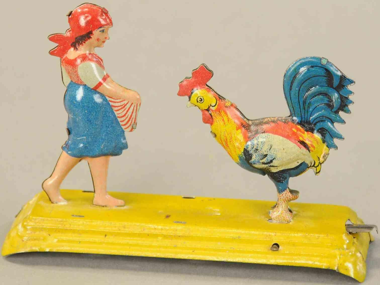 meier 152 penny toy hahn mit maedchen gallo e bambina