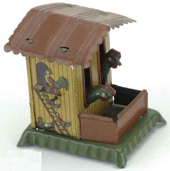 meier penny toy huehnerhaus mit huehnern die gefuettert werden