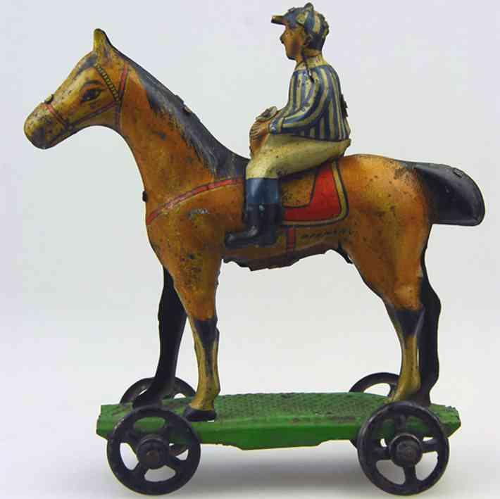 meier blech penny toy jockey auf pferd  plattform