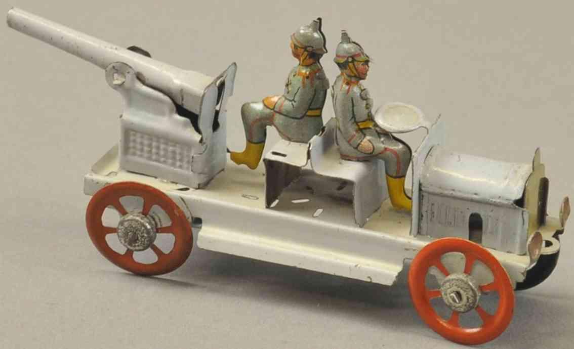 meier penny toy kanonenwagen zwei soldaten grau