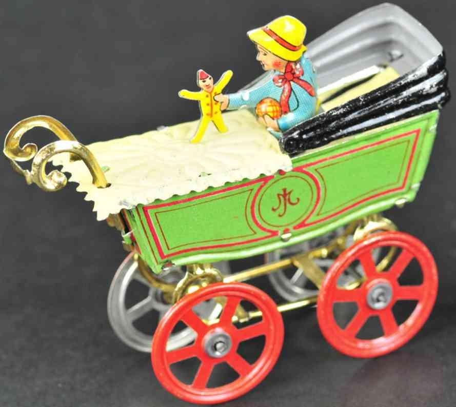 meier penny toy baby im kinderwagen puppe gruen