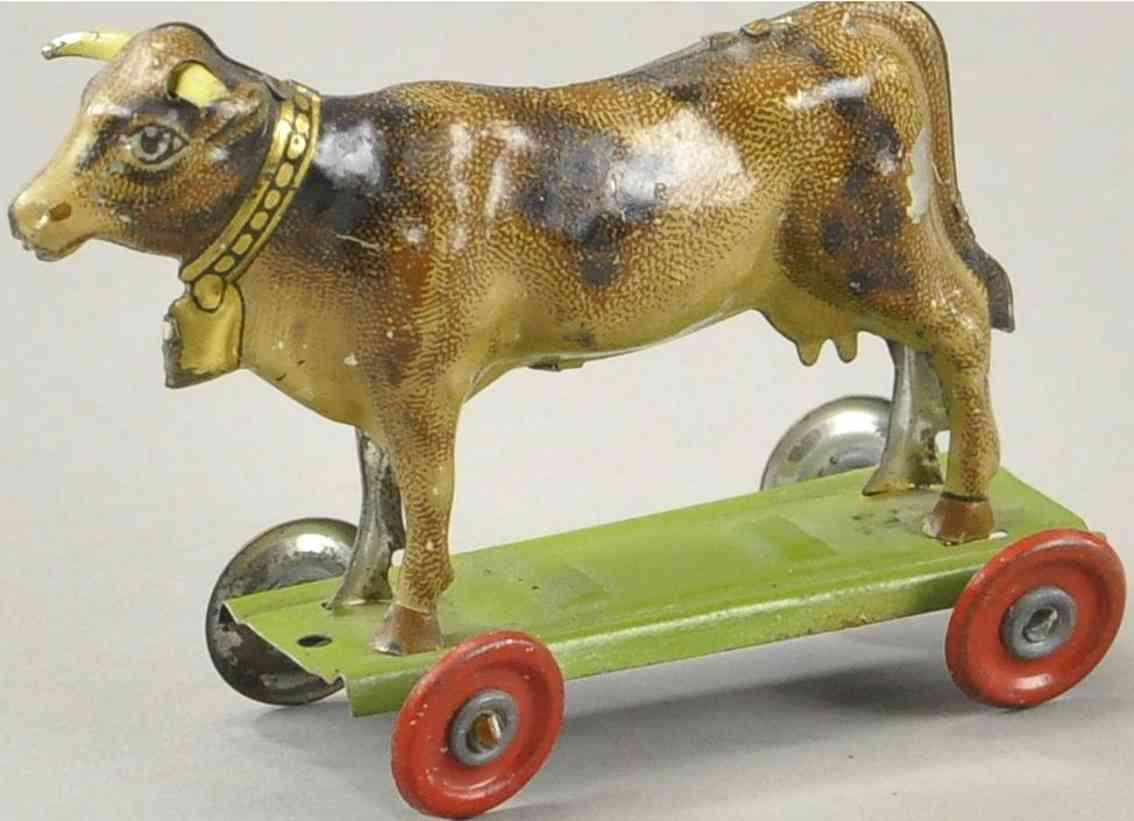 meier penny toy kuh auf plattform mit raedern