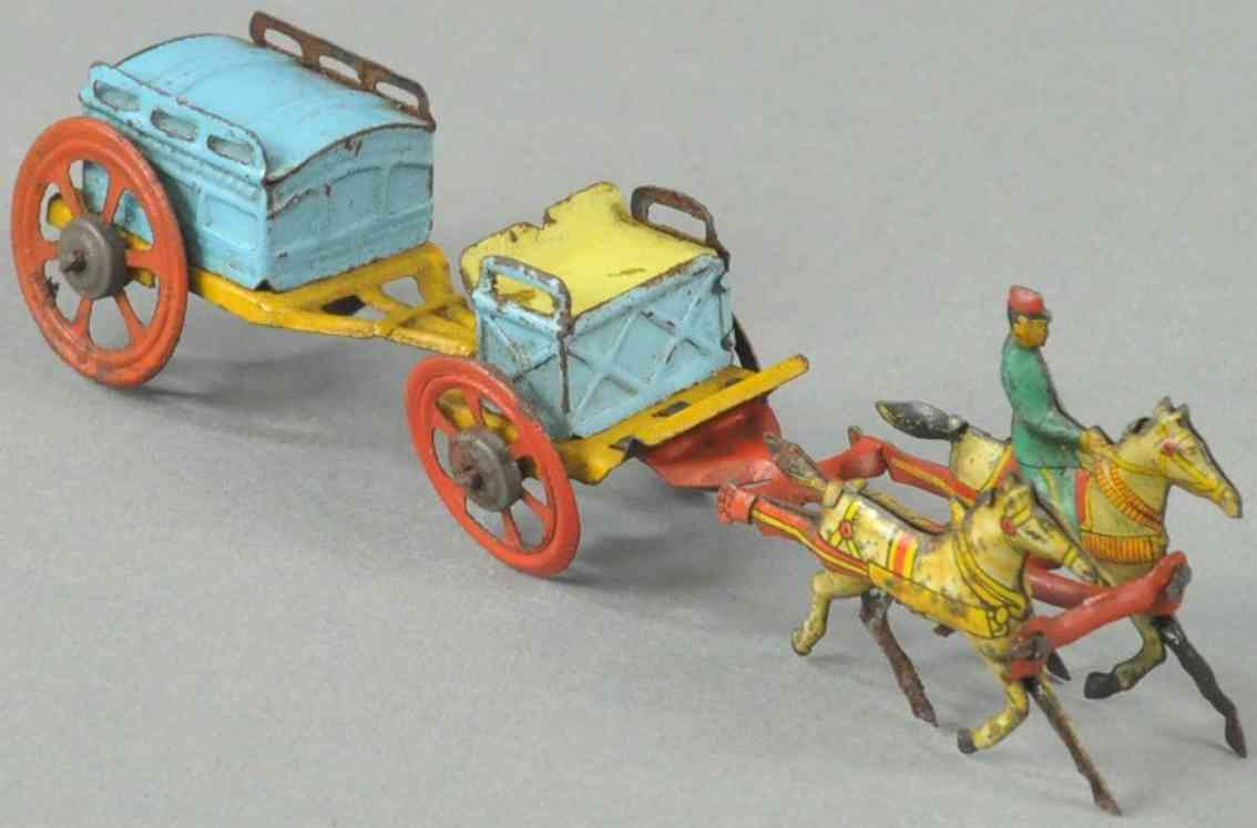 meier penny toy horse drawn supply cart tow contariner