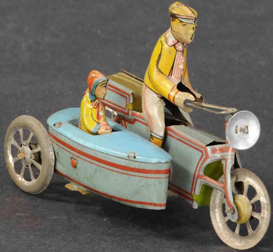 meier penny toy motorrad mit seitenwagen ziviler fahrer maedchen