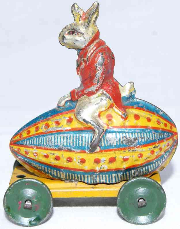meier penny toy osterhase reitet auf einem osterei