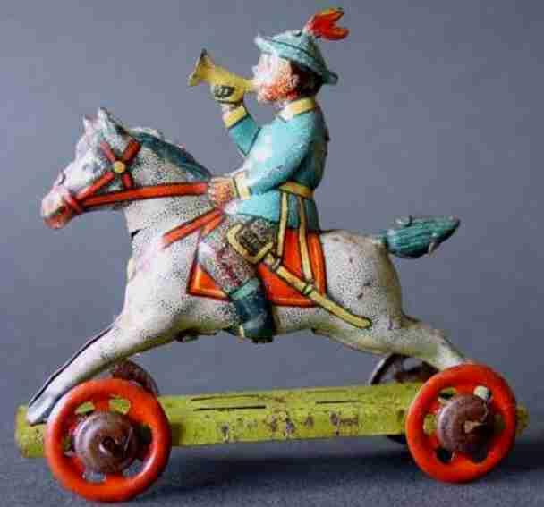 Meier Penny Toy Junge mit Trompete auf Pferd