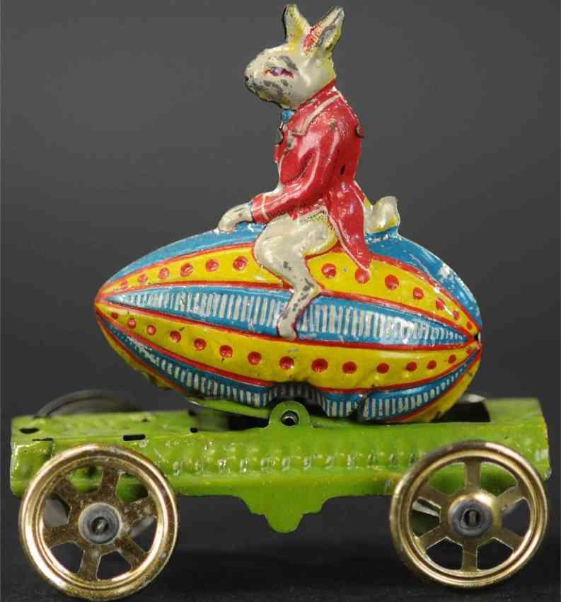 meier penny toy gnome on easter egg platform gold spoke wheels