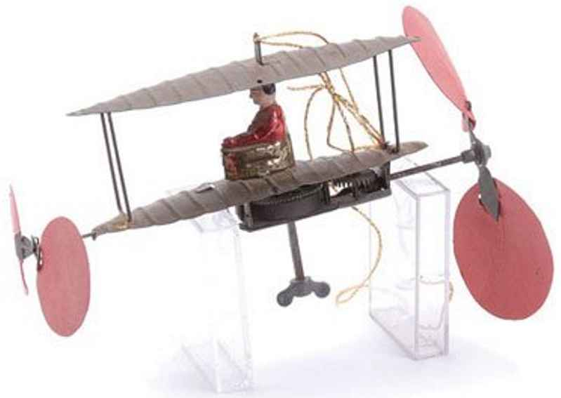 Meier Penny Toy Flying machine with clockwork resembling a early Biplane