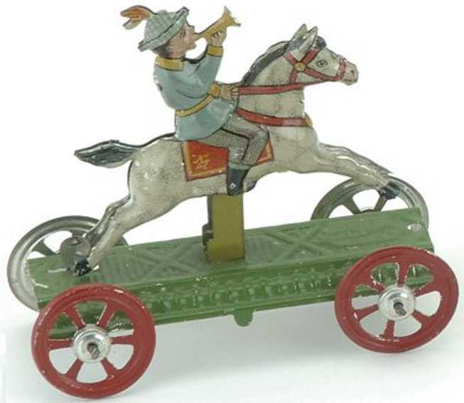 Meier Penny Toy Junge mit Horn auf einem Pferd