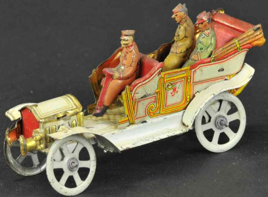 meier penny toy tourenwagen, cabrio offene limousine fahrer zwei frauen