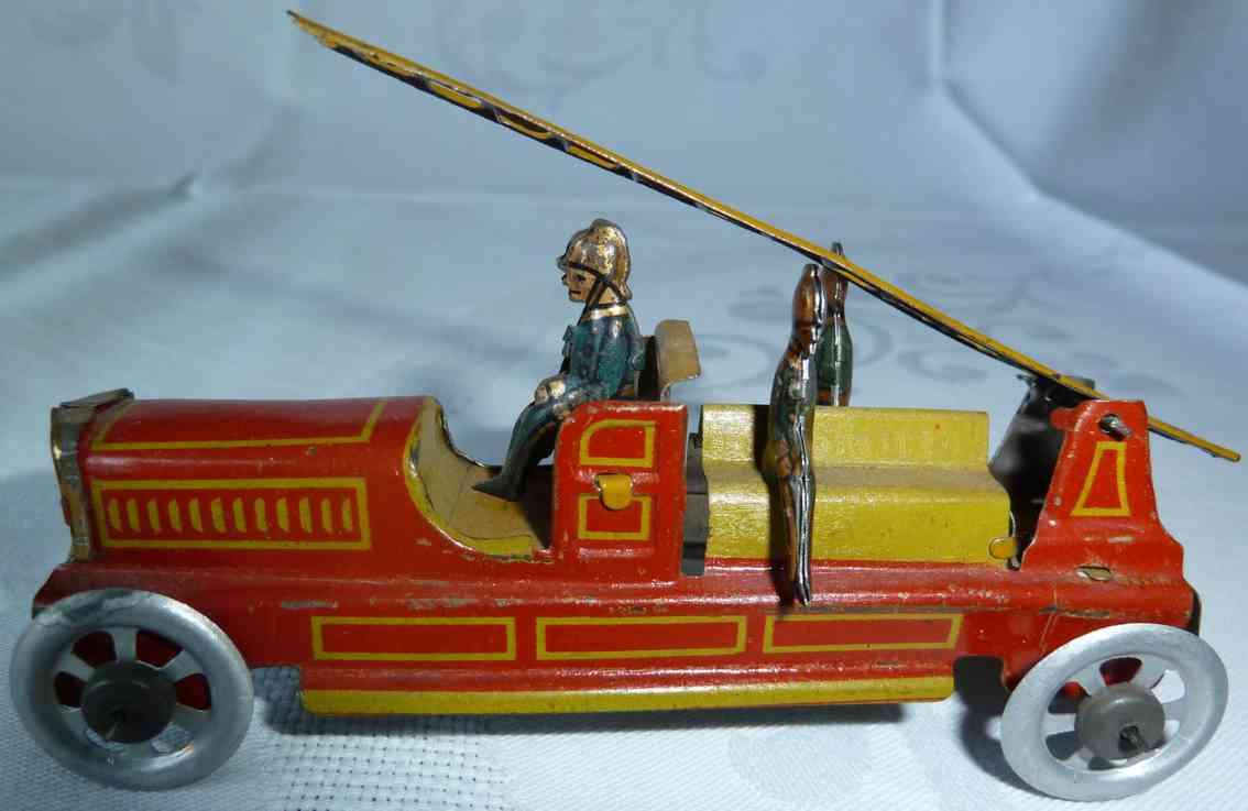 fischer georg penny toy fire ladder truck