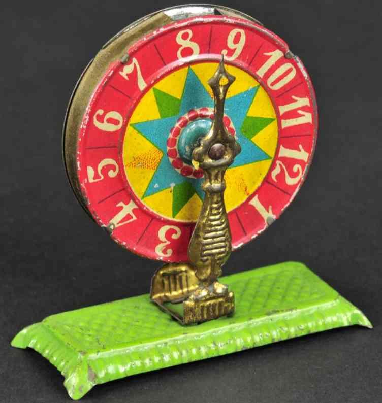 meier penny toy blech gluecksrad  gruene plattform
