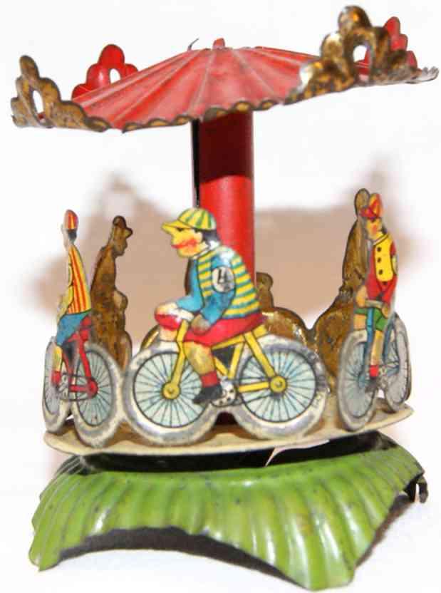 meier penny toy karussell mit fahrradfahrern
