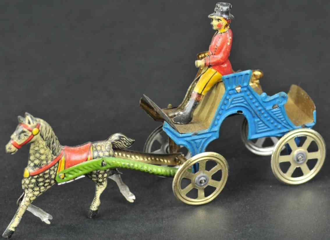 meier blech penny toy pferdekutsche ein pferd kutscher