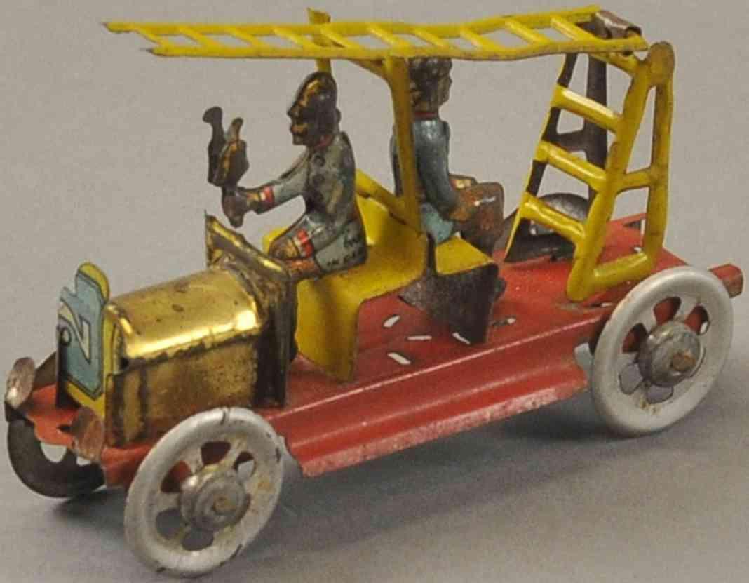 meier penny toy feuerwehrleiterwagen zwei feuerwehrmaenner