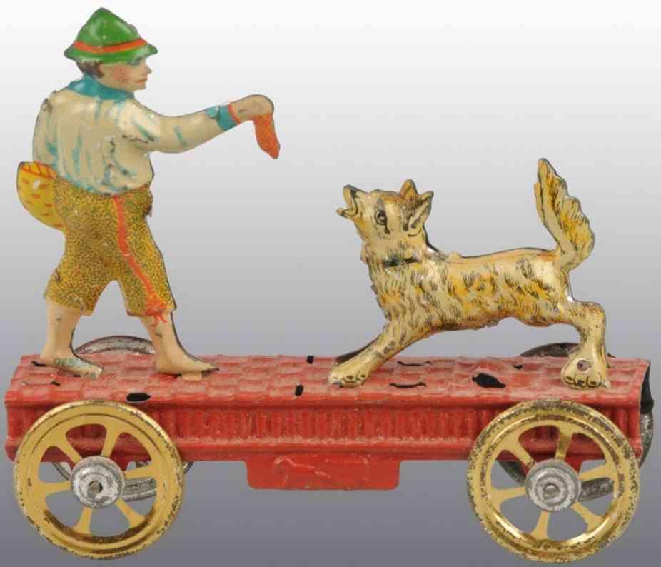 meier penny toy blech mann und hund rote plattform