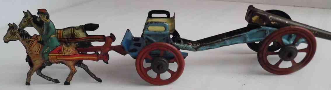 meier penny toy militaer pferdegespann reiter kutsche geschuetzlafett