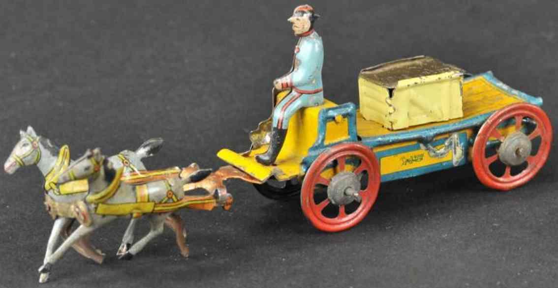meier penny toy pferdegespann mit suessigkeitenbehaelter blech