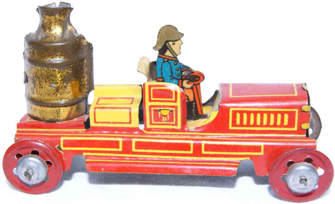 meier penny toy feuerwehr kesselwagen rot gelb