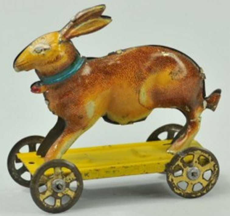 Meier Penny Toy Hase auf Plattform mit Rädern