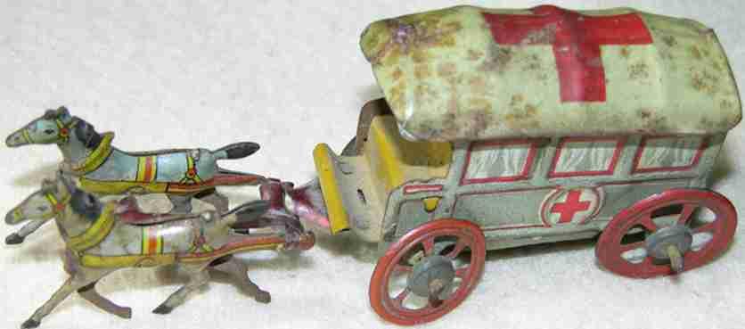 meier penny toy rot kreuz kutsche mit 2 pferden