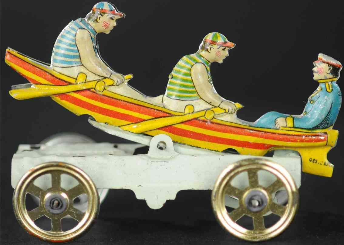 meier penny toy ruderboot mit 3 maennern