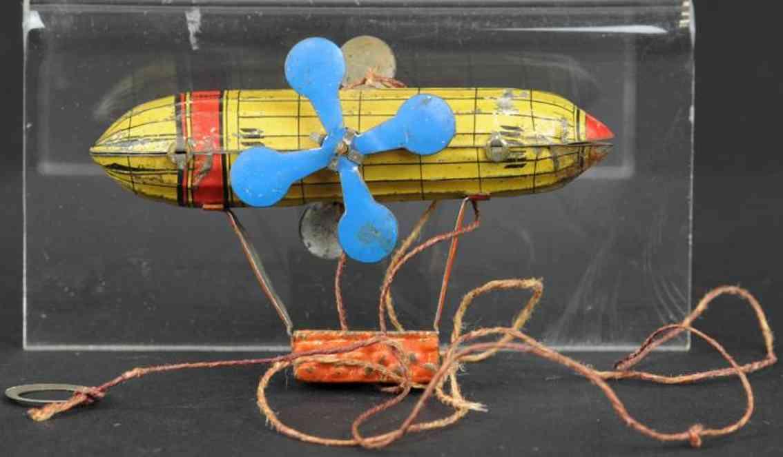 meier penny toy zeppelin eine gondel zwei blaue propeller