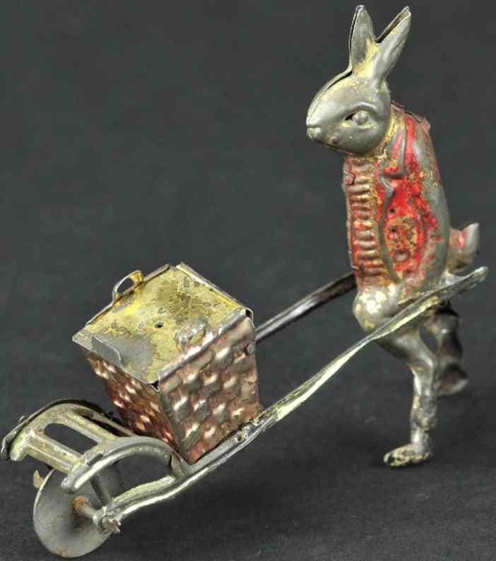 meier blech penny toy kaninchen mit schubkarre