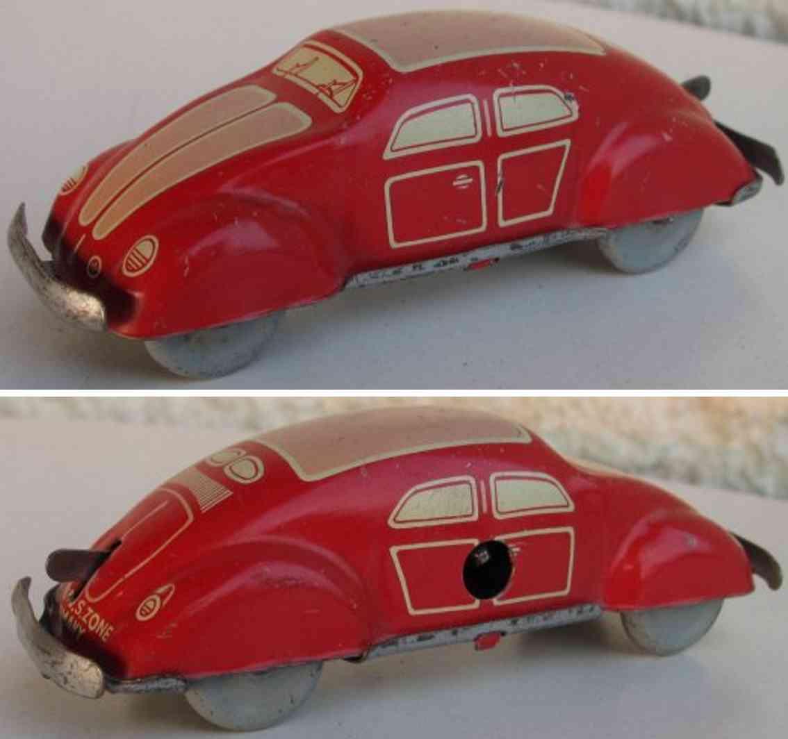 nbn nuernberger blechspielwaren penny toy vw brezel beetle with clockwor