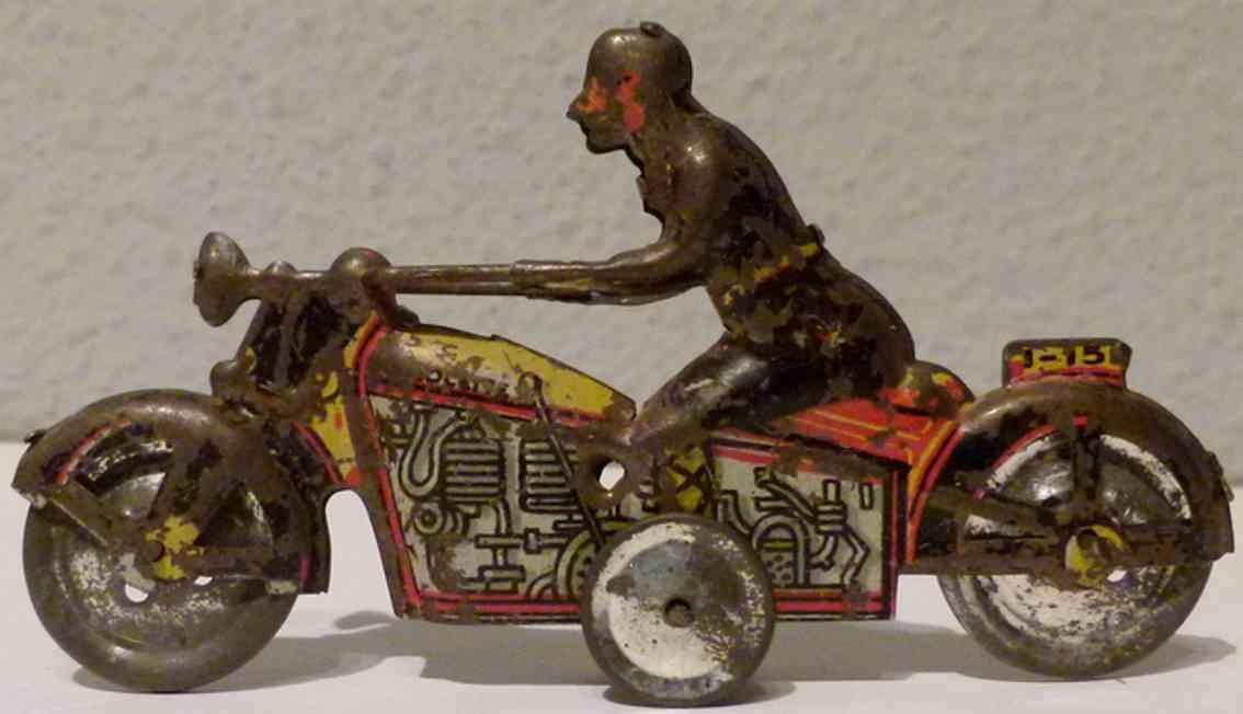 paya penny toy motorrad mit friktionsantrieb 145