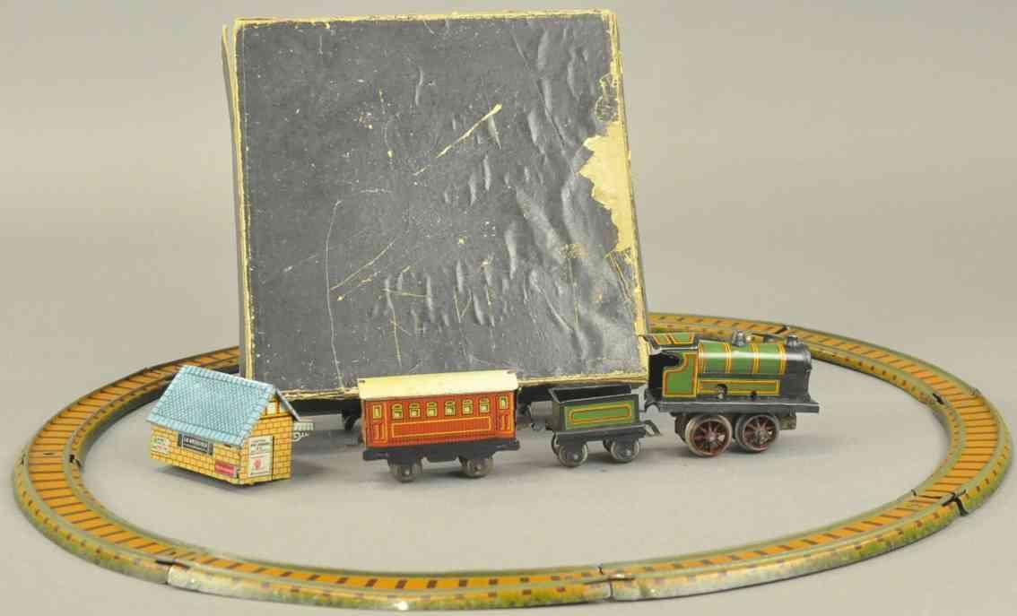 paya penny toy zug schienen lokomotive tender personenwagen bahnhof