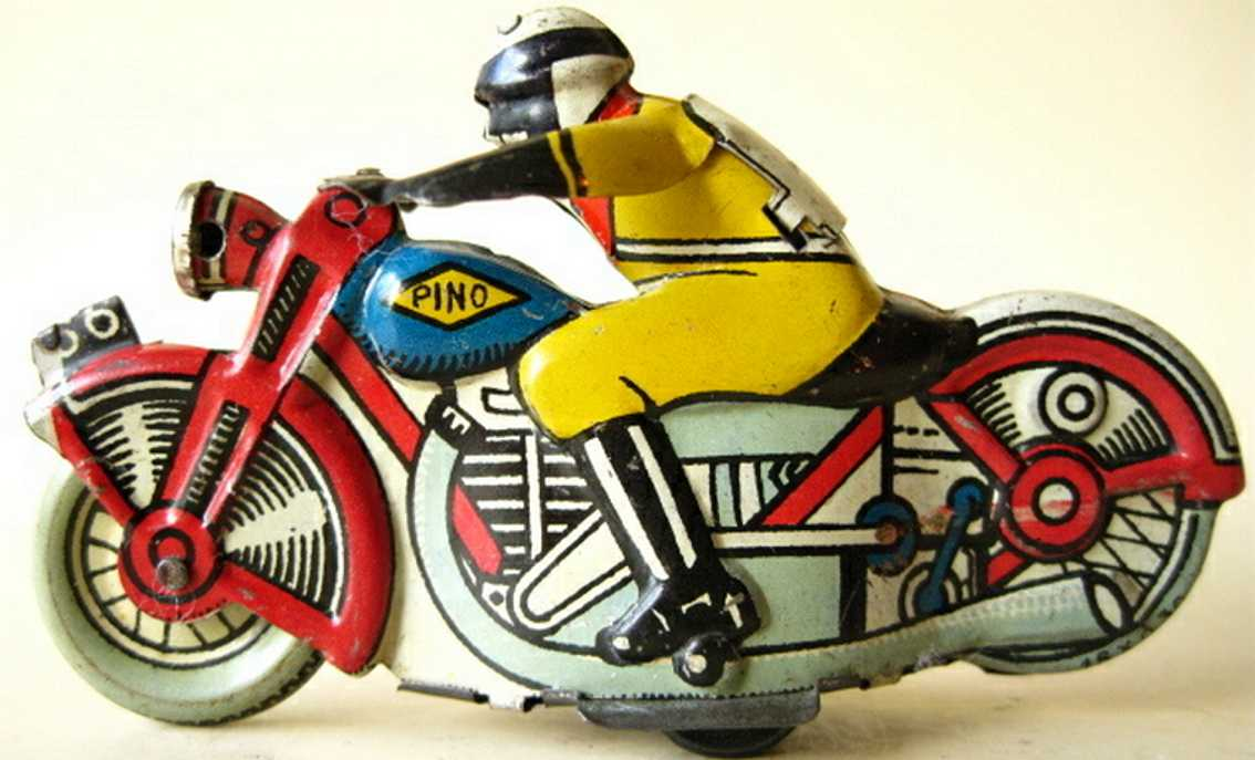 Pino Penny Toy Motorcycle lithographed