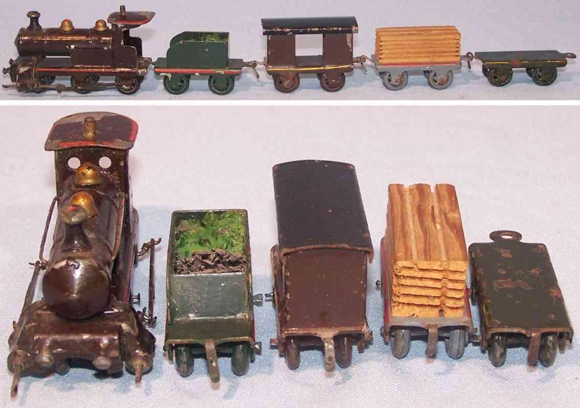 plank ernst penny toy zug dampflokomotive tender wagen