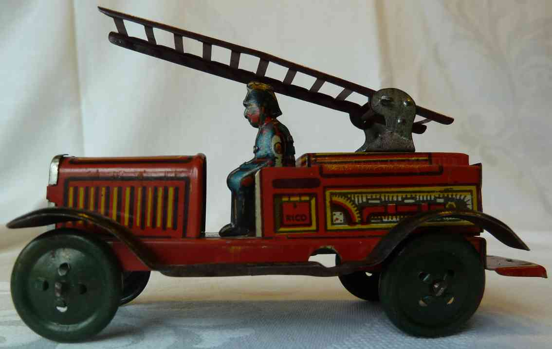 Rico Santiago 207 Penny Toy Fire ladder car