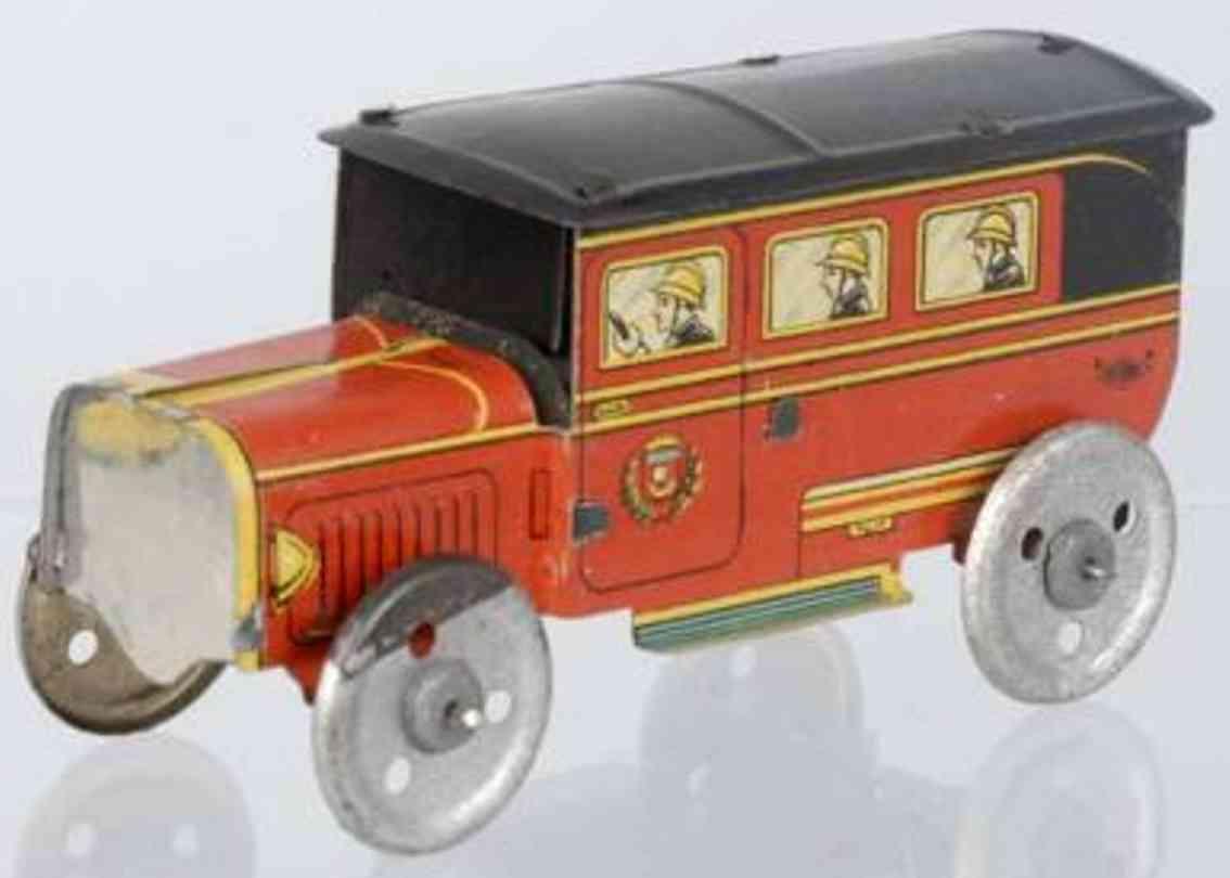 charles rossignol penny toy franzoesischer feuerwehrwagen