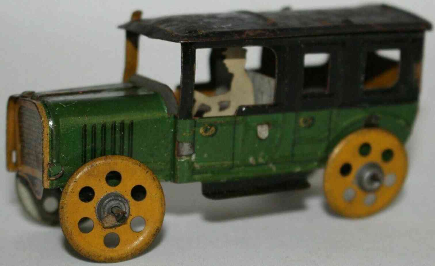 rossignol penny toy sportwagen aus blech in gruen und schwarz
