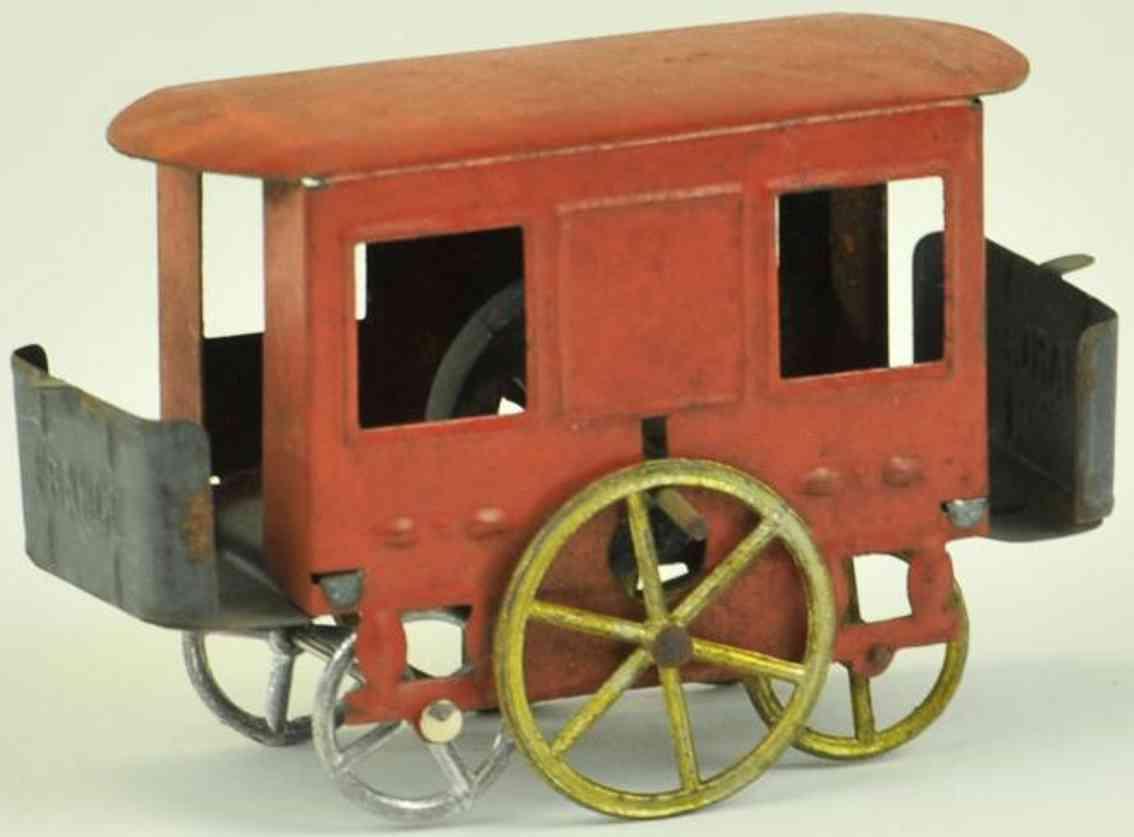 rossignol penny toy strassenbahn  rot schwungrad