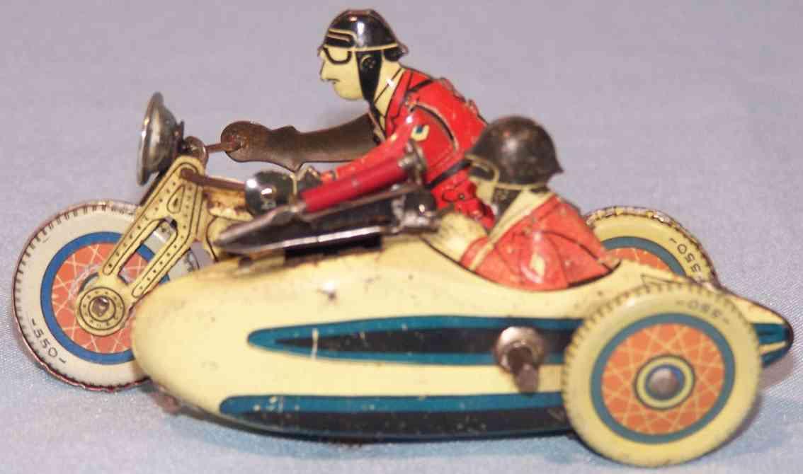 sfa 756 penny toy motorrad seitenwagen beifahrer uhrwerk
