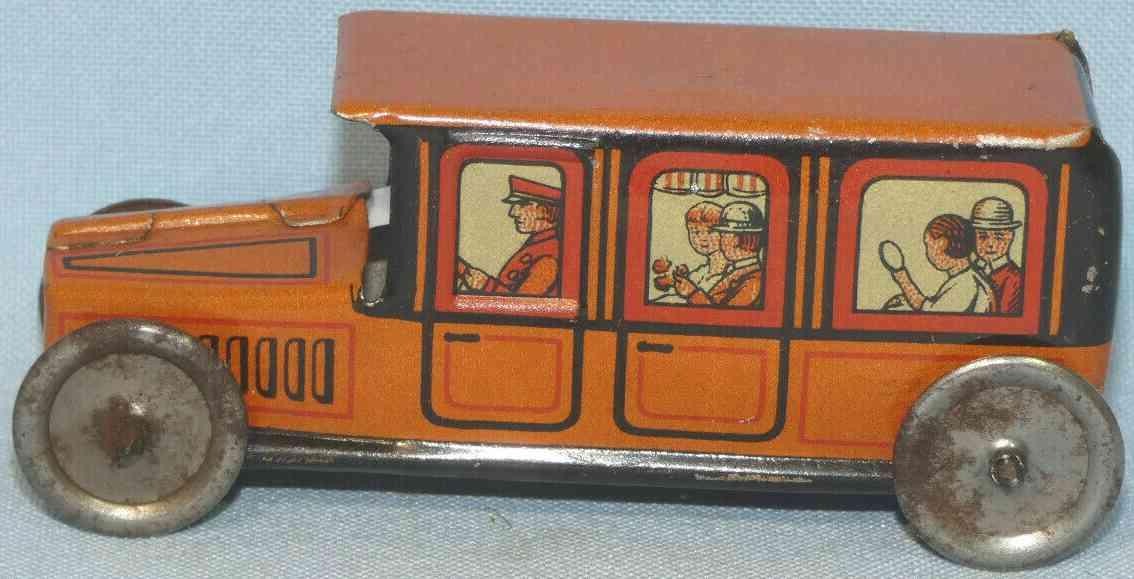 technofix 181/2 penny toy taxi ohne uhrwerk als schiebemodell braun