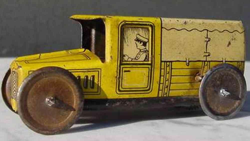 technofix 182 penny toy lieferwagen mit schwungrad