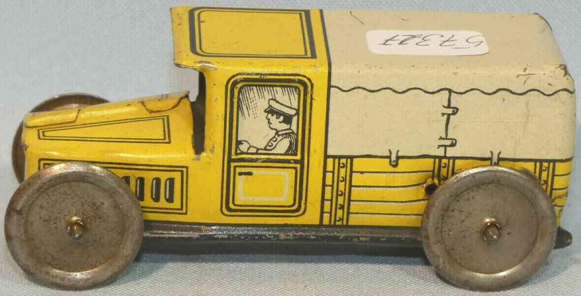 technofix 182 penny toy lieferwagen ohne uhrwerk als schiebemodell