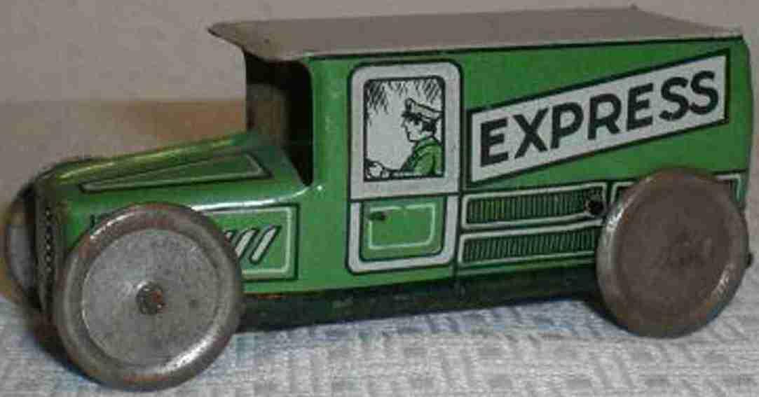 technofix 183/2 penny toy lieferwagen ohne uhrwerk in grün aus dem sortiment nr. 16