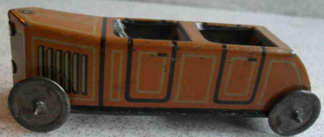 technofix 185 penny toy rennwagen ohne uhrwerk in orange